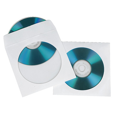 Hama Lot de 100 Pochettes pour CD/DVD