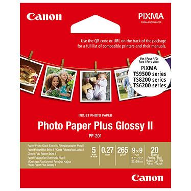 Canon PP-201 Extra II Papel fotográfico extra brillante II 8,8 x 8,8 cm (20 hojas)