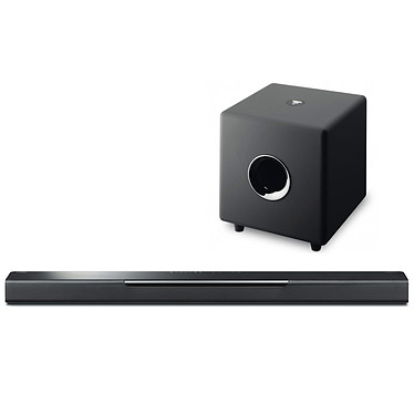 Yamaha MusicCast BAR 40 + Focal Cub 3 Jet Black Barre de son 2.0 Bluetooth avec son 3D Surround DTS Virtual:X, MusicCast Surround, multiroom, Wi-Fi et AirPlay, compatible Alexa + Caisson de grave 150 Watts