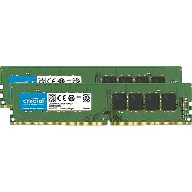 Crucial DDR4 16 Go (2 x 8 Go) 3200 MHz CL22 SR X8 Kit Dual Channel RAM DDR4 PC4-25600 - CT2K8G4DFS832A (garantie à vie par Crucial)