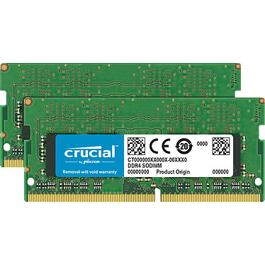 Crucial SO-DIMM DDR4 16 Go (2 x 8 Go) 3200 MHz CL22 SR X8 Kit Dual Channel RAM DDR4 PC4-25600 - CT2K8G4SFS832A