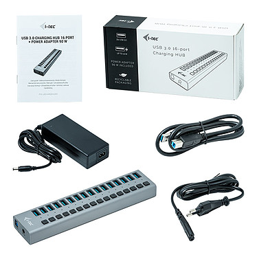 Comprar i-tec USB 3.0 Charging Hub 16 Port + Power Adapter 90W