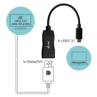 Avis i-tec Adaptateur USB-C / DisplayPort (mâle/femelle)