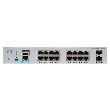 Cisco Catalyst WS-C2960L-SM-16PS Switch manageable 16 ports 10/100/1000 Mbps PoE+ + 2 ports SFP