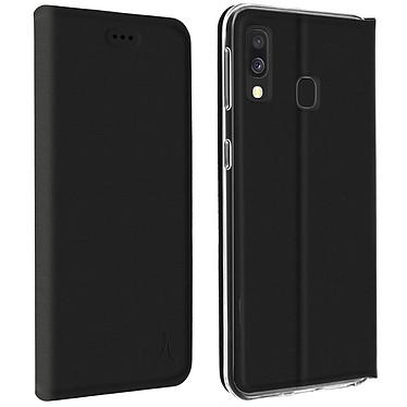 Akashi Etui Folio Porte Carte Noir Galaxy A40 Etui folio avec porte carte pour Samsung Galaxy A40