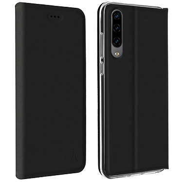 Akashi Etui Folio Porte Carte Noir Huawei P30 Lite Etui folio avec porte carte pour Huawei P30 Lite