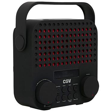 CGV DR15+ Noir Radio-réveil numérique FM/DAB+ avec entrée AUX