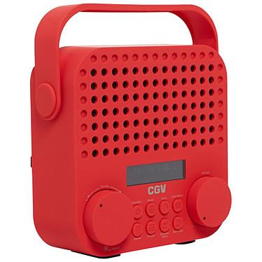 CGV DR15+ Rouge Radio-réveil numérique FM/DAB+ avec entrée AUX