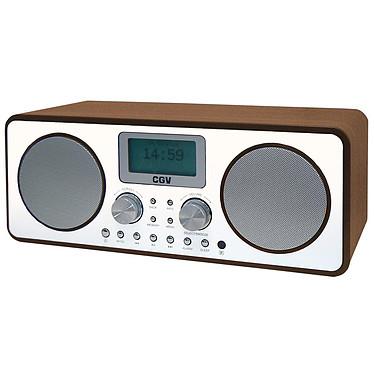 CGV DR30i Radio-réveil numérique stéréo - Radio Internet - FM/DAB+ - Wi-Fi Dual Band - UPnP - Port USB - Entrée AUX