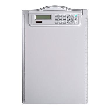 Maul Porte Bloc avec calculatrice Porte bloc blanc A4 avec calculatrice