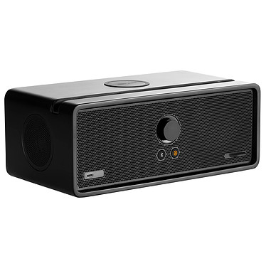 Orbitsound Dock E30 Noir Mat Enceinte multiroom avec Wi-Fi, Bluetooth, AirPlay, Spotify Connect, USB-C, entrée AUX et chargeur induction