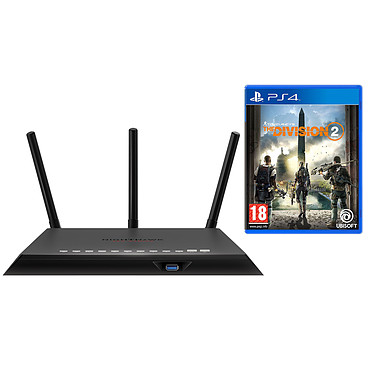 Netgear Nighthawk Pro Gaming XR300 + The Division 2 (PS4) Routeur sans fil Dual Band Wi-Fi AC1750 (N450 + AC1300) + 4 ports Gigabit Ethernet avec The Division 2 (PS4)