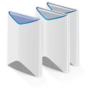 Netgear Orbi Pro Pack routeur + 2 satellites (SRK60B03-100EUS) Routeur sans fil Tri-Band Wi-Fi Mesh AC3000 (1733 + 866 + 400 Mbit/s) MU-MIMO avec 2 points d'accès Wifi Tri-Band Wi-Fi AC3000 (1733 + 866 + 400 Mbit/s)