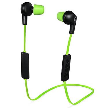 KLIM Pulse (vert) Écouteurs intra-auriculaires universels sans fil Bluetooth (sport, musique, gaming ...) - mousse à mémoire de forme - microphone - télécommande intégrée - compatible Android / iOS / PC / Consoles