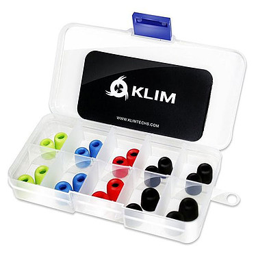KLIM Embouts Écouteurs Pulse 5.5 mm Embouts Pulse pour écouteurs 5.5 mm