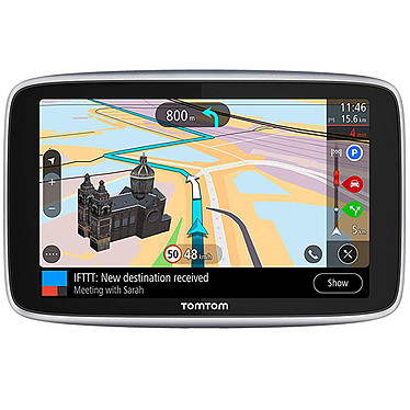 """TomTom GO Premium (6"""") GPS Europe Écran 6"""" - 49 pays - Cartographie et Trafic gratuits à vie - Wi-Fi - Messages smartphone - Appels mains-libres - Fonctionnalité IFTTT"""