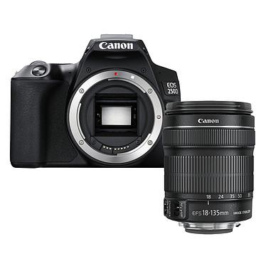 """Canon EOS 250D Noir + 18-135 IS STM Noir Reflex Numérique 24.1 MP - Écran tactile orientable 3"""" - Viseur optique - Vidéo Ultra HD - Wi-Fi - Bluetooth + Objectif EF-S 18-135 mm f/3.5-5.6 IS STM"""