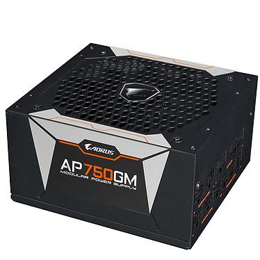 Aorus P750W 80PLUS Gold Alimentation 100% modulaire 750W ATX 12V Ventilateur 135 mm - 80PLUS Gold