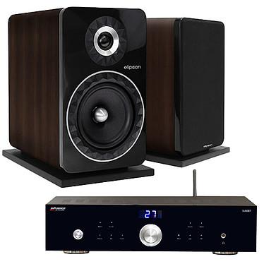 Advance Acoustic X-i50BT + Elipson Prestige Facet 8B Noyer Amplificateur intégré 2 x 50 Watts avec DAC USB et Bluetooth + Enceinte bibliothèque audiophile (par paire)