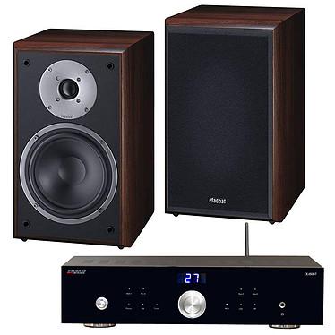 Advance Acoustic X-i50BT + Magnat Monitor Supreme 202 Moka Amplificateur intégré 2 x 50 Watts avec DAC USB et Bluetooth + Enceinte bibliothèque (par paire)