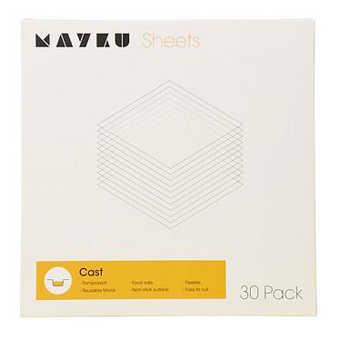 Mayku Cast Sheets 30 Pack Paquete de 30 láminas transparentes de 0,5 mm para la producción de moldes reutilizables.
