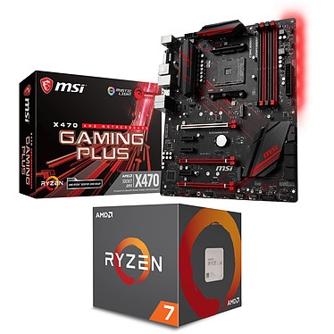 Kit Upgrade PC AMD Ryzen 7 2700X MSI X470 GAMING PLUS Carte mère ATX Socket AM4 AMD X470 + CPU AMD Ryzen 7 2700X Wraith Prism Edition (3.7 GHz / 4.3 GHz)