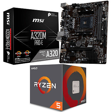 Kit Upgrade PC AMD Ryzen 5 2600 MSI A320M PRO-E