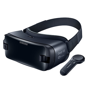 Samsung Gear VR R325N Noir + Connecteur spécifique Galaxy S10 Casque de réalité virtuelle avec contrôleur compatible S6, S6 Edge, S6 Edge+, S7, S7 Edge, S8, S8+, S9, S9+, S10, S10e, S10+, A8, Note 8, Note 9