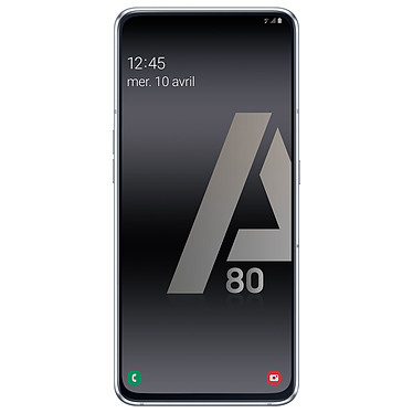 "Samsung Galaxy A80 Argent Smartphone 4G-LTE Dual SIM - Snapdragon 7150 8-Core 2.2 GHz - RAM 8 Go - Ecran tactile Super AMOLED 6.7"" 1080 x 2400 - 128 Go - NFC/Bluetooth 5.0 - 3700 mAh - Android 9.0"