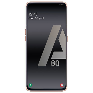 "Samsung Galaxy A80 Or/Rose Smartphone 4G-LTE Dual SIM - Snapdragon 7150 8-Core 2.2 GHz - RAM 8 Go - Ecran tactile Super AMOLED 6.7"" 1080 x 2400 - 128 Go - NFC/Bluetooth 5.0 - 3700 mAh - Android 9.0"