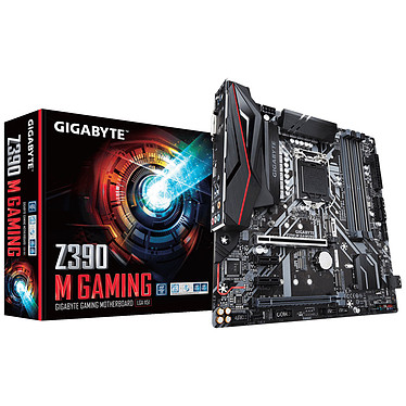 Gigabyte Z390M Gaming Carte mère micro-ATX  Socket 1151 Intel Z390 Express - 4x DDR4 - SATA 6Gb/s + M.2 - USB 3.1 - 2x PCI-Express 3.0 16x