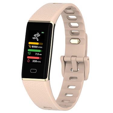 MyKronoz ZeTrack Rose Tracker d'activité étanche avec capteur cardiaque, écran couleur tactile, Bluetooth (iOS/Android)