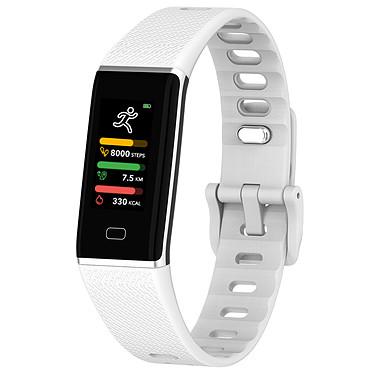 MyKronoz ZeTrack Blanc Tracker d'activité étanche avec capteur cardiaque, écran couleur tactile, Bluetooth (iOS/Android)