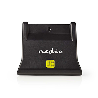 Nedis Lecteur de carte à puce vertical (CRDRU2SM3BK) Lecteur de carte à puce USB 2.0 Noir