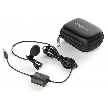IK Multimedia iRIG Mic Lav Microphone Lavalier pour iPhone/iPad/iPod Touch et Android