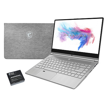 "MSI PS42 8RB-035FR + MSI Sleeve Bag OFFERT ! Intel Core i7-8550U 16 Go SSD 512 Go 14"" LED Full HD NVIDIA GeForce MX150 2 Go Wi-Fi AC/Bluetooth Webcam Windows 10 Famille 64 bits + Pochette de rangement"