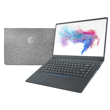 "MSI PS63 Modern 8RC-030FR + MSI Sleeve Bag OFFERT ! Intel Core i5-8265U 8 Go SSD 256 Go 15.6"" LED Full HD NVIDIA GeForce GTX 1050 4 Go Wi-Fi AC/Bluetooth Webcam Windows 10 Professionnel 64 bits + Pochette de rangement"