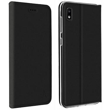 Akashi Etui Folio Noir Galaxy A10 Etui folio avec porte carte pour Samsung Galaxy A10