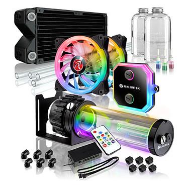 Raijintek Phorcys Evo CD240 Kit de watercooling à rétroéclairage RGB pour processeur Intel LGA 775/1150/1151/1155/1156//1366/2011/2011-3/2066 et AMD FM1/FM2/FM2+/AM2/AM2+/AM3/AM3+/AM4