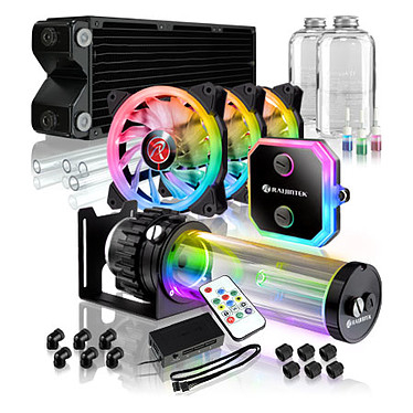 Raijintek Phorcys Evo CD360 Kit de watercooling à rétroéclairage RGB pour processeur Intel LGA 775/1150/1151/1155/1156//1366/2011/2011-3/2066 et AMD FM1/FM2/FM2+/AM2/AM2+/AM3/AM3+/AM4