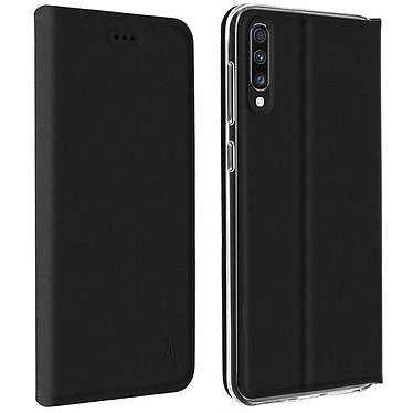 Akashi Etui Folio Noir Galaxy A70 Etui folio avec porte carte pour Samsung Galaxy A70