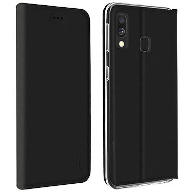 Akashi Etui Folio Porte Carte Noir Galaxy A20e Etui folio avec porte carte pour Samsung Galaxy A20e