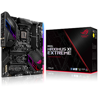 ASUS MAXIMUS XI EXTREME Carte mère E-ATX Socket 1151 Intel Z390 Express - 4x DDR4 - SATA 6Gb/s + M.2 - USB 3.1 - Wi-Fi AC/Bluetooth 5.0/Ethernet 5 Gigabits - 3x PCI-Express 3.0 16x