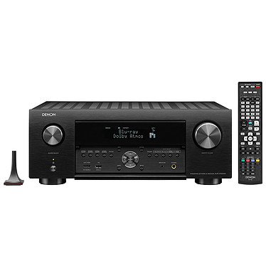 Denon AVR-X4500H Noir Ampli-tuner Home Cinema 3D Ready 9.2 - Dolby Atmos / DTS:X - IMAX Enhanced - Auro 3D - 8x HDMI 4K Ultra HD, HDCP 2.2 - HDR - Wi-Fi/Bluetooth - AirPlay 2 - Multiroom - Amazon Alexa