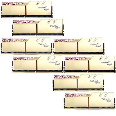 G.Skill Trident Z Royal 64 Go (8 x 8 Go) DDR4 3600 MHz CL16 - Or Kit Quad Channel 8 barrettes de RAM DDR4 PC4-28800 - F4-3600C16Q2-64GTRG avec LED RGB