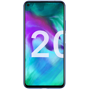 "Honor 20 Bleu (6 Go / 128 Go) Smartphone 4G-LTE Advanced Dual SIM - Kirin 980 8-Core 2.6 GHz - RAM 6 Go - Ecran tactile 6.26"" 1080 x 2340 - 128 Go - Bluetooth 5.0 - 3750 mAh - Android 9.0"