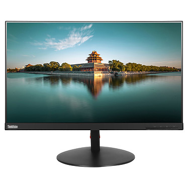 "Lenovo 23.8"" LED - ThinkVision T24i (61CEMAT2EU) 1920 x 1080 pixels - 6 ms - Format large 16/9 - Dalle IPS - DisplayPort - HDMI - Hub USB - Noir"