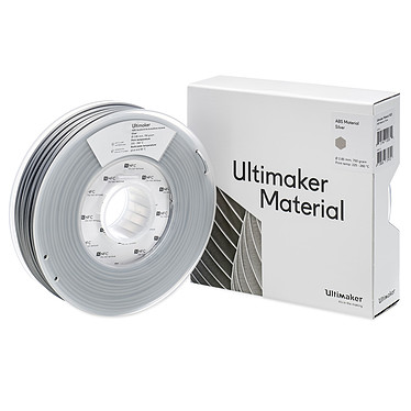 Ultimaker ABS Argent 750g