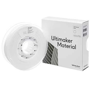 Ultimaker CPE Blanco 750g Bobina PLC de 2,85 mm para impresora 3D Ultimaker