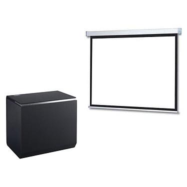 Panasonic TX-100FP1E + LDLC Ecran motorisé - Format 16:9 - 240 x 135 cm Vidéoprojecteur DLP Full HD - 2700 Lumens - Focale ultra-courte - Wi-Fi/Bluetooth/DLNA - HDMI/USB - Haut-parleurs 32 Watts + Ecran motorisé - Format 16:9 - 240 x 135 cm